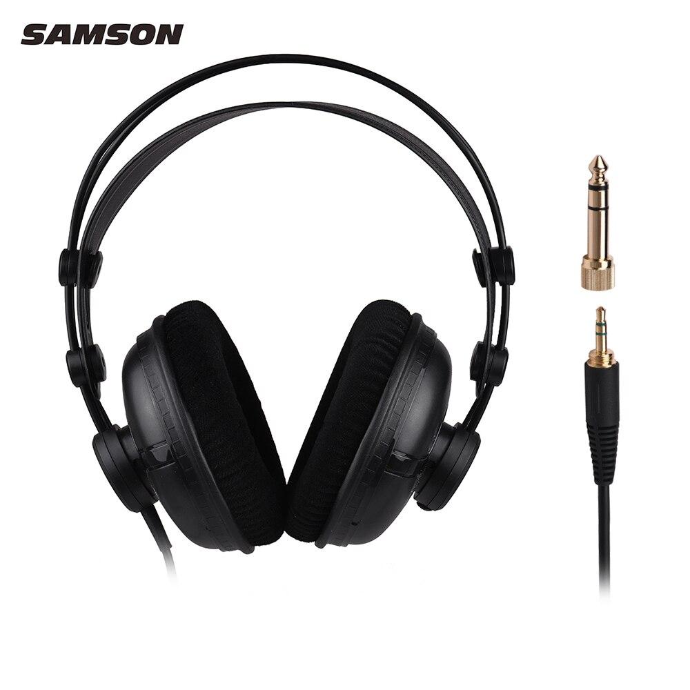 SAMSON SR950 Professional Studio Monitor de referencia auriculares dinámico diseño de oído cerrado para grabar música de monitoreo