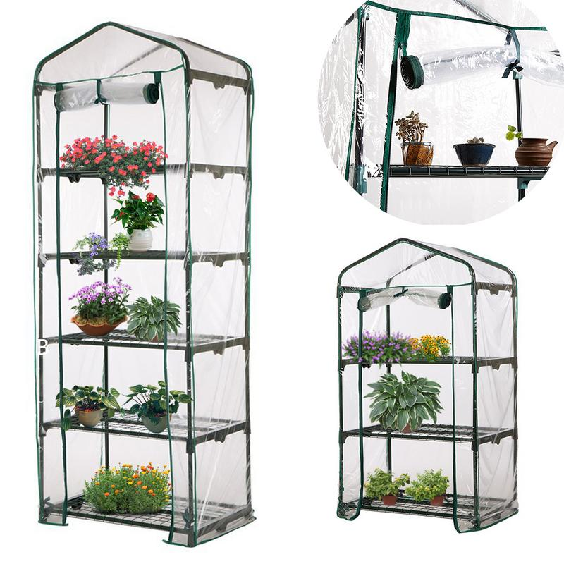 Capa de pvc de jardim, mini capa de greenhouse para plantas domésticas, sem suporte de ferro, jardim, planta, flores, capa de greenhouse