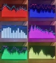 Профессиональный Полноцветный анализатор спектра музыки DYKB AS3264 с RGB дисплеем, MP3 Усилитель, индикатор уровня звука, измеритель ритма УФ