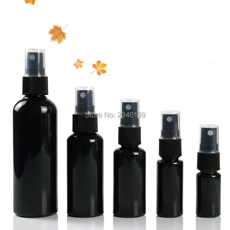 البلاستيك رذاذ زجاجة 60 مللي فارغة الأسود رذاذ مضخة زجاجة 50 مللي رذاذ زجاجة 20 مللي 30 مللي فارغة البلاستيك التجميل الحاويات 100 مللي 50 قطعة