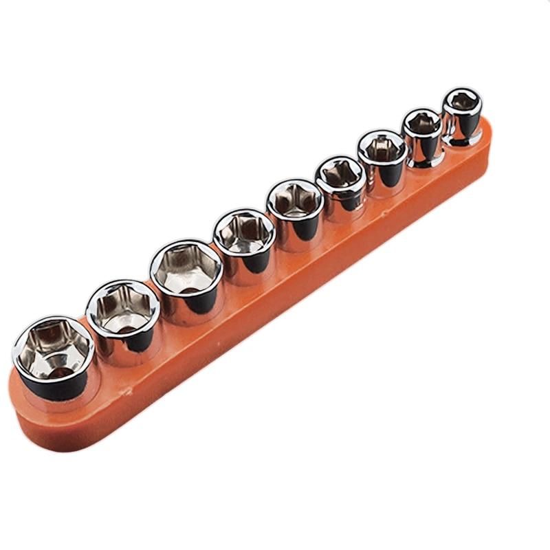 Herramientas manuales multifuncionales 9 uds/10 Uds. Destornillador hexagonal de 1/4 pulgadas manguito de llave inglesa adaptador de Juego de llaves 5/6/7/8/9/10/11/12/13Mm