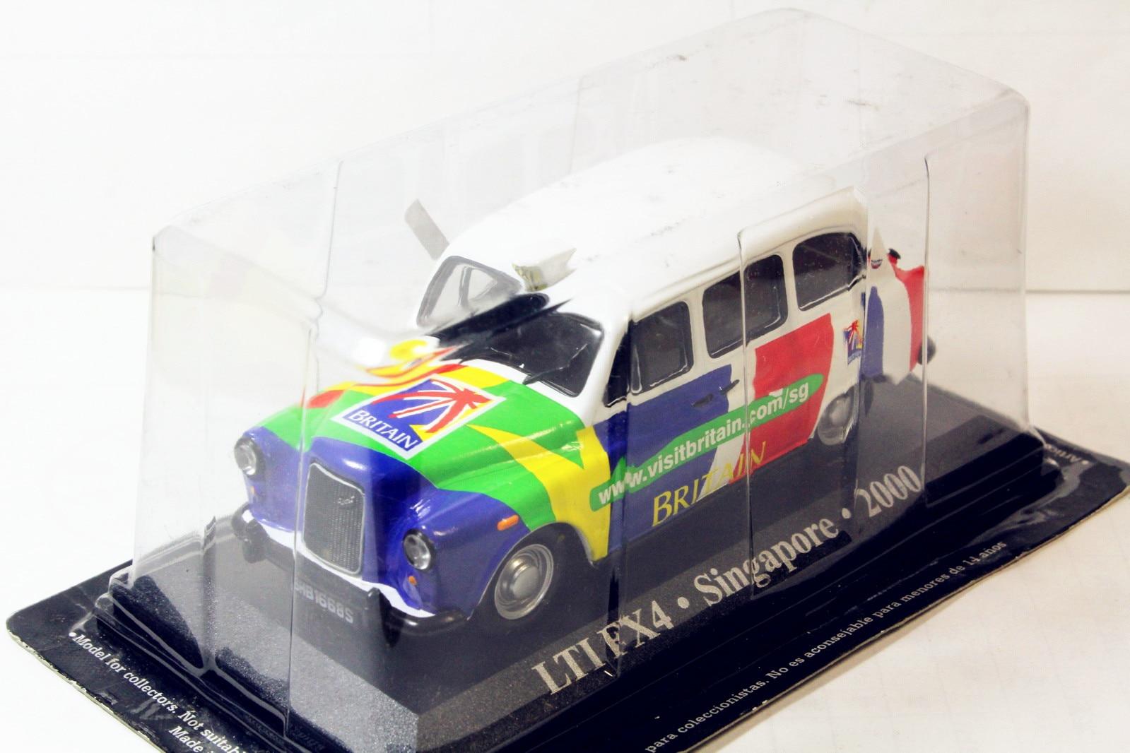 Modelo de colección de Taxi alyak Austin LTI FX4, 1/43, Singapur, 2000