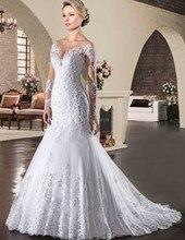 Mermaid abito da sposa cap maniche Personalizza vestido de noiva sexy O collo backless del vestito per il matrimonio abito da sposa Cappella treno Grwon
