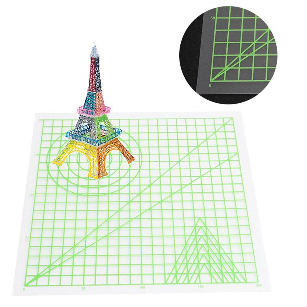 Tapete de diseño de silicona con múltiples formas para crear objetos 3D para bolígrafo de impresión 3D plantilla básica suministros de arte herramienta de dibujo regalo #20