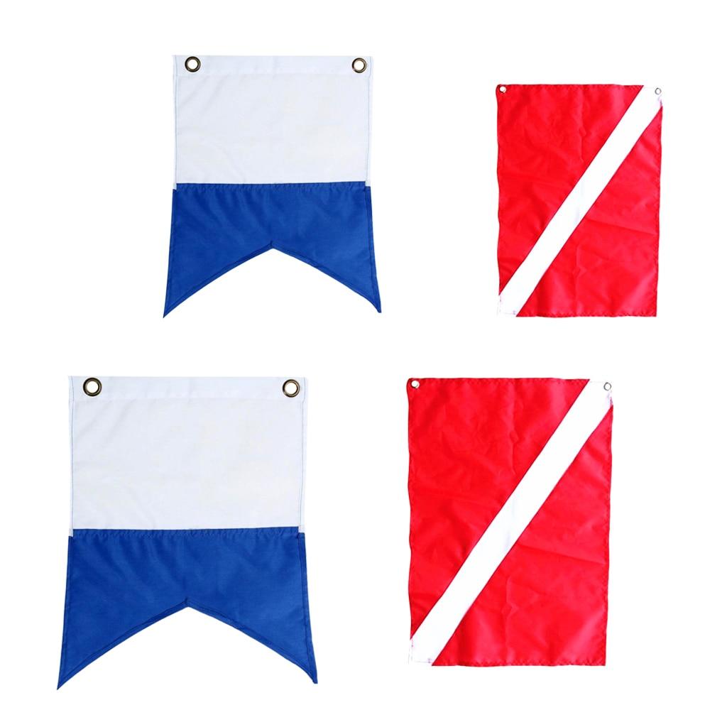 4 шт. нейлоновые Подводные Ныряние лодки чартерные ныряющие флаги морские сигнальные флаги