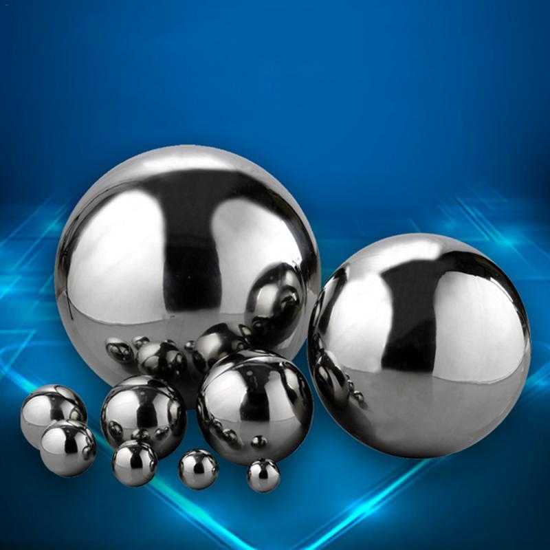 Brilho alto 304 esfera espelho bola de aço inoxidável oco bola jardim casa decoração suprimentos ornamento 19mm ~ 300mm