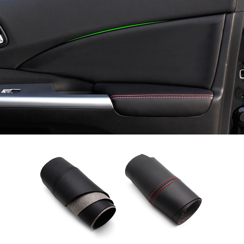 For Honda CRV 2012 2013 2014 2015 2016 2017 4PCS Interior Microfiber Leather Car Door Panel Armrest Cover Protective Trim