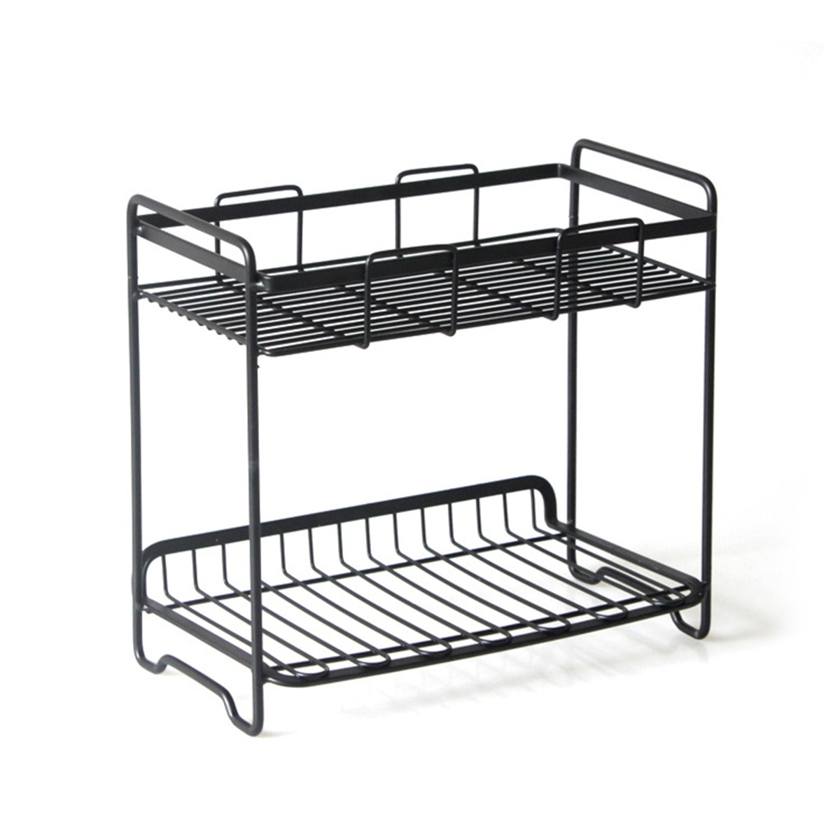 التخزين رف معدني متعدد الطوابق الوظائف المطاوع الحديد رف الحديد المطاوع الرف تخزين الرف للشرفة المطبخ الحمام