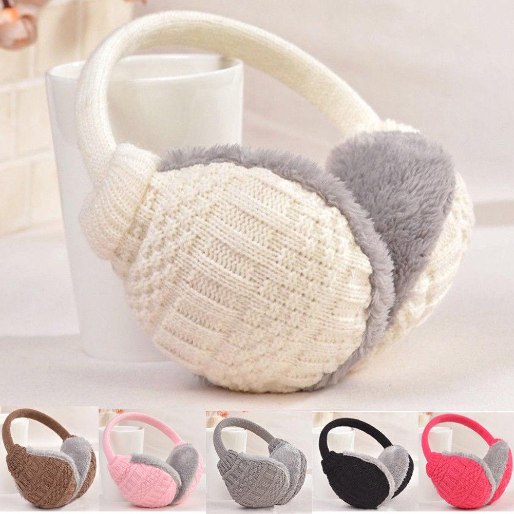 New Fashion Winter Warm Knitted Earmuffs Ear Warmers Fashion Women Girls Ear Muffs Earlap Plush Knit Solid Ear Protect