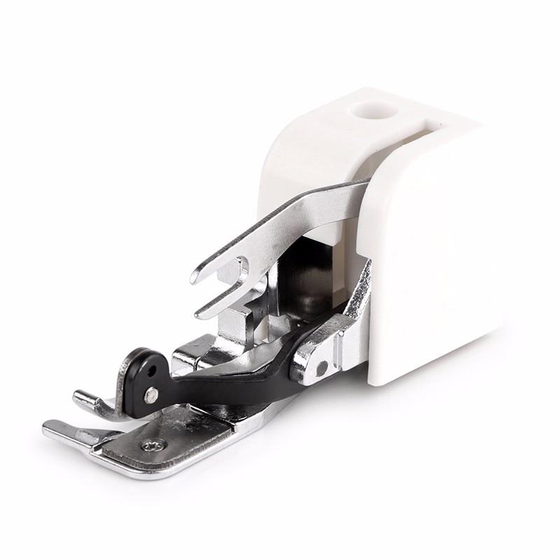 1 piezas lado cortador de la máquina de coser Overlock Presser pies de la máquina de coser archivo adjunto para todo bajo mango cantante