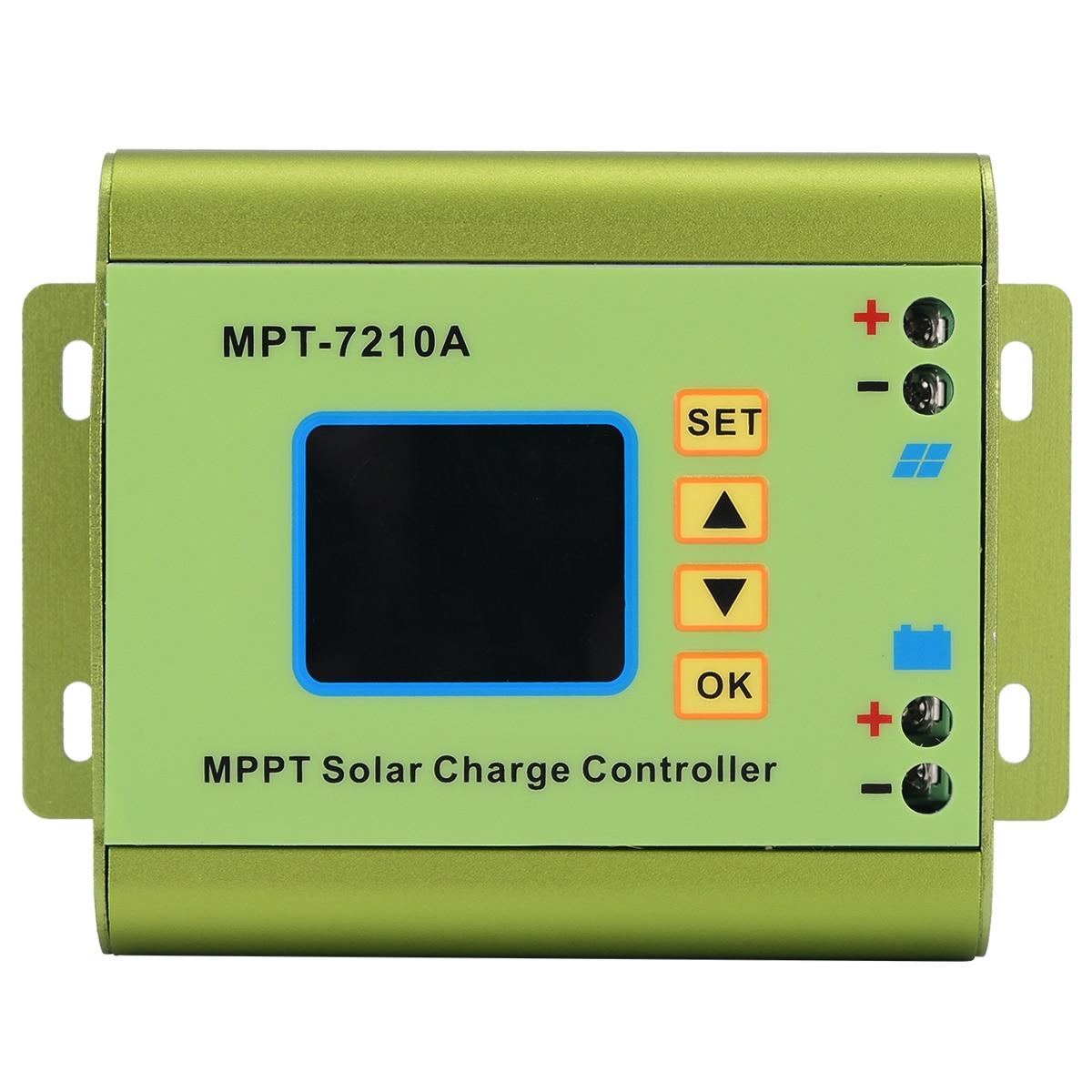 mppt controlador de carga do painel solar com display lcd 24 36 48 60 72 v 10a funcao