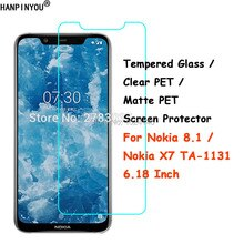 Tempered Glass / Clear PET / Matte PET -- Front Screen Protector Protective Film Guard For Nokia 8.1