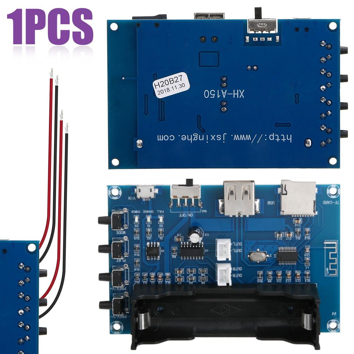 New Digital bluetooth 4.0 Power Amplifier Board 2 Channel PAM8403 Stereo AMP USB 18650 Battery Power For Speaker