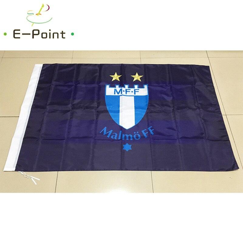 Adornos navideños para el hogar, Bandera de Suecia Malmo FF de 3 pies * 5 pies (90*150cm)