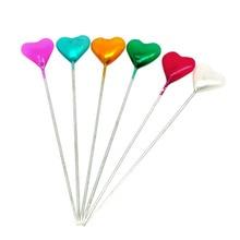 New Useful 5 Cases(150pcs) Cute Mixed Heart Craft Sewing Pins 5.5cm long DIY