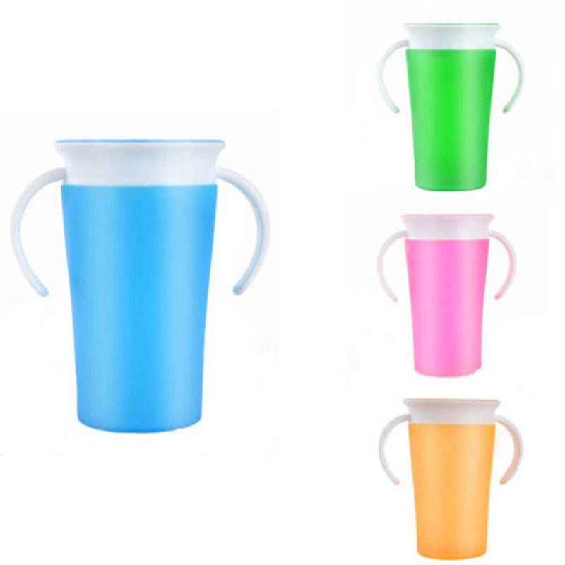 Kinder Ausbildung Wunder Tasse Mit Griffe 360 Grad Trinken Auslaufen Zu Verhindern 260 ml 1 Pcs Munchkin Kleinkinder Sicher Fütterung Spill beweis CC