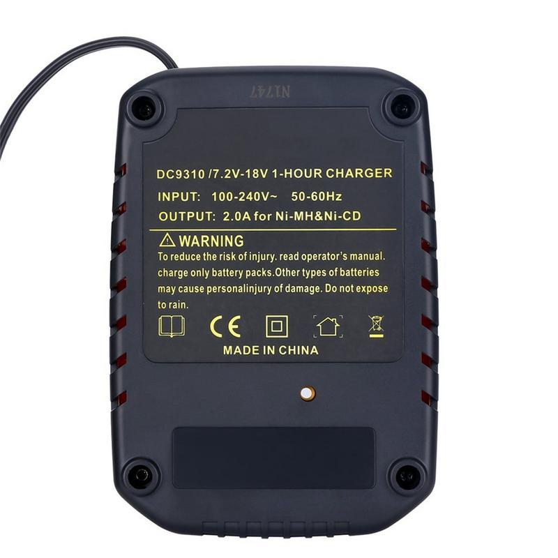 Electric Tool Battery Charger DC9310 for DEWALT 7.2V-18V NiCad & NiMh Battery DW9057 DC9071 DC9091 DC9096 enlarge