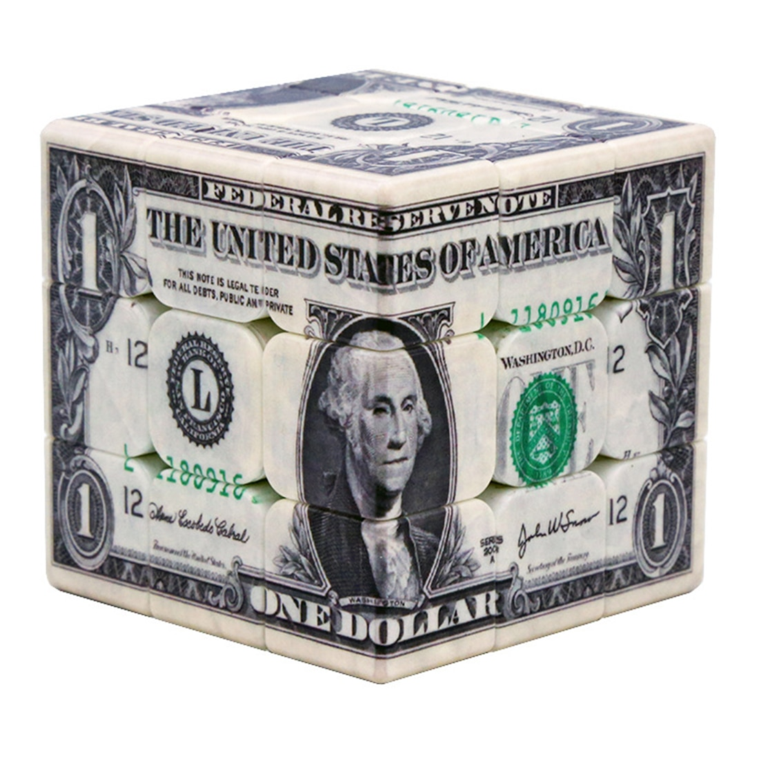 cubo magico com estampa uv padrao dolar 3x3x3 quebra cabeca de cubo de velocidade