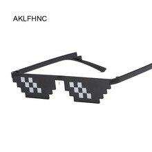 Mosaik Sonnenbrille Trick Spielzeug Thug Life Gläser Deal Mit Es Gläser Pixel Frauen Männer Schwarz Mosaik Sonnenbrille Lustige Spielzeug