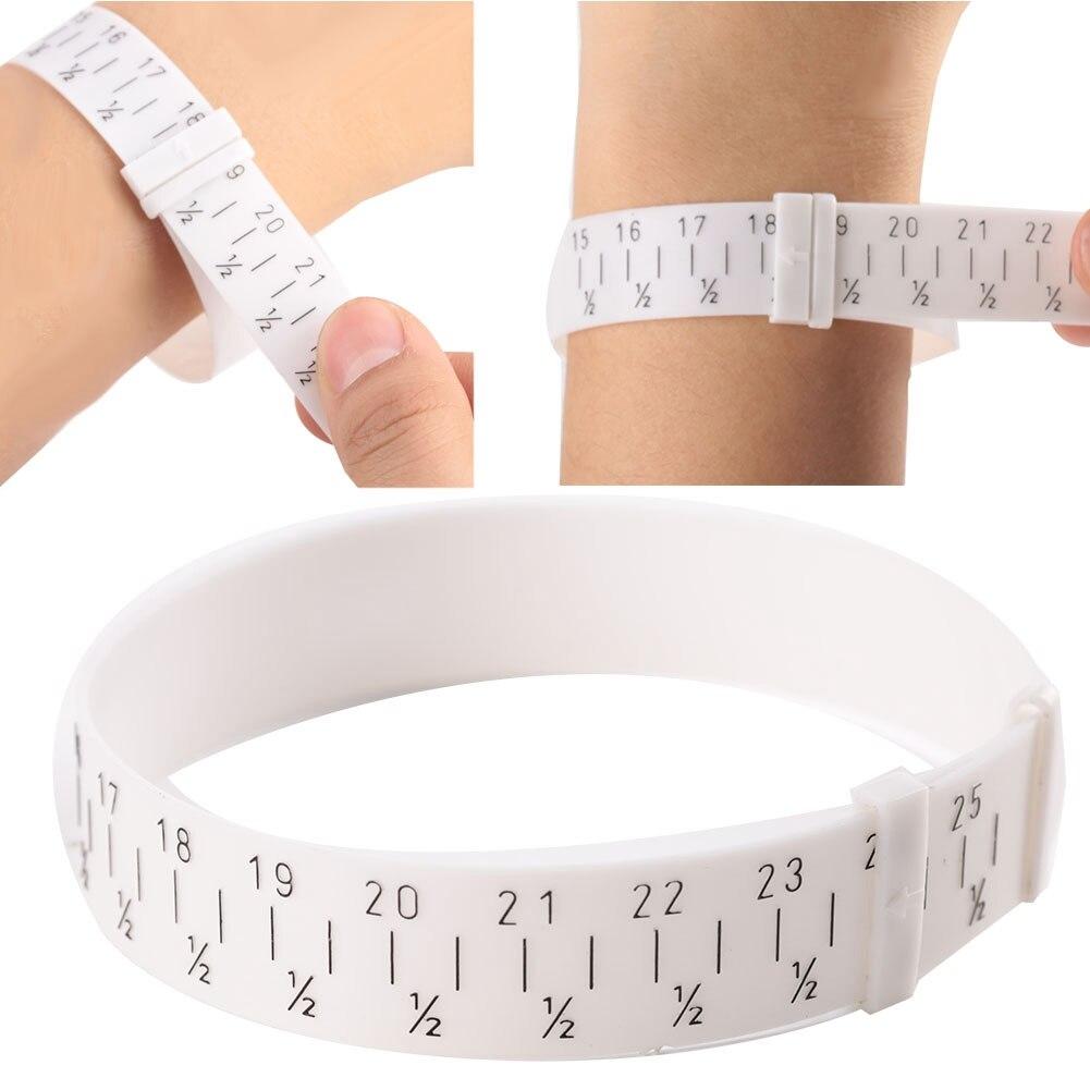 Pulsera de plástico profesional brazalete medidor Sizer joyería mide el tamaño de la muñeca herramienta para 15-25cm herramientas de fabricación de joyas para joyero