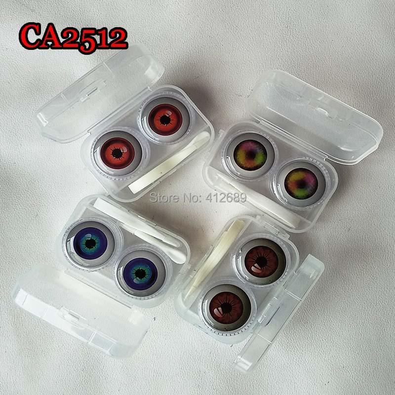 Darmowa wysyłka 1 2 3 5 sztuk Cartoon Anime gałka oczna kryształ okrągły Case z PP skarbonka mały pojemnik na soczewki kontaktowe (bez obiektywu) CA2512 MIX