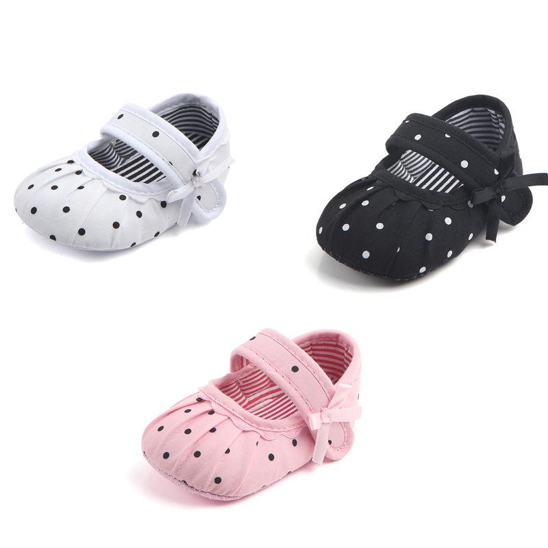 Pudcoco Giel Crib Shoes Newborn Baby Girl Soft Sole Canvas Crib Shoes Anti-slip Sneaker Prewalker 0-