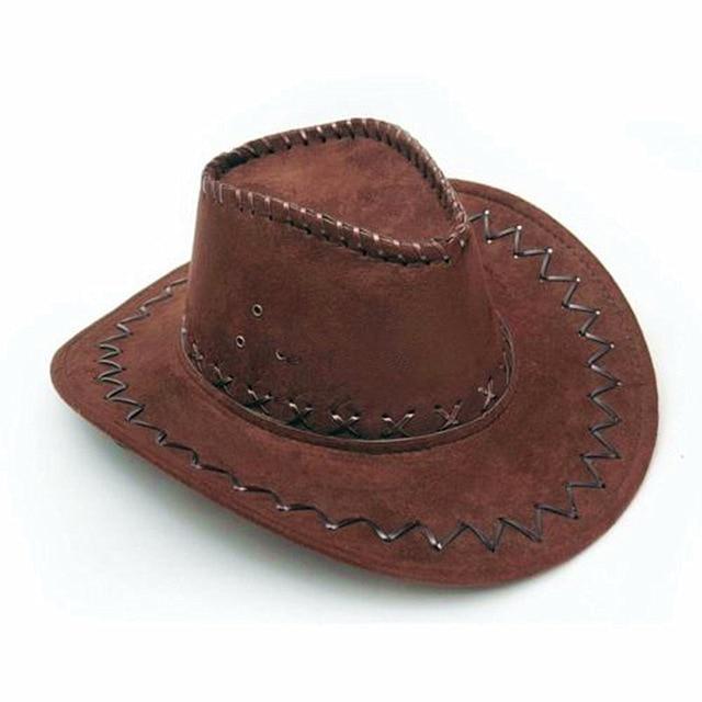 2020 New Cowboy Hat Suede Look Wild West Fancy Dress Men Ladies Cowgirl Unisex Hat Hot wholesale Drop Shipping