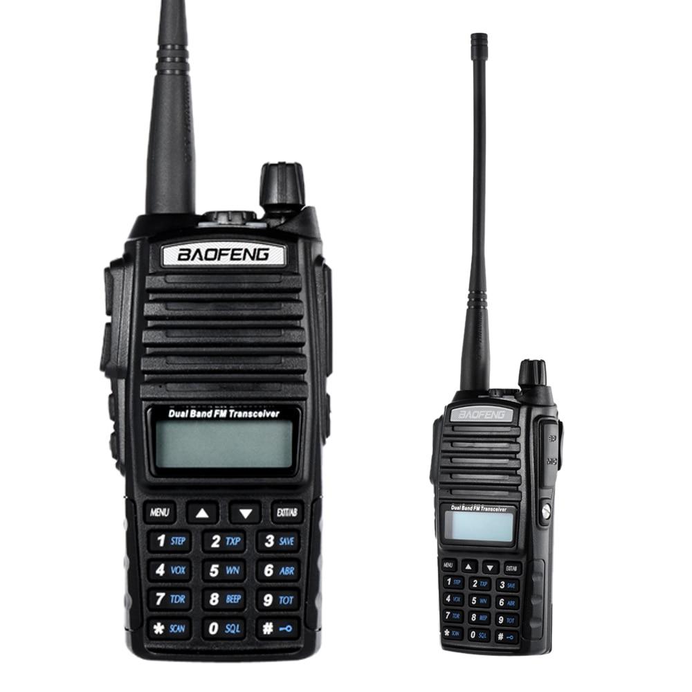 Original de BAOFENG UV-82 VHF/UHF de banda Dual de mano transceptor de Interphone con LCD receptor de Radio FM linterna LED Walkie Talkie