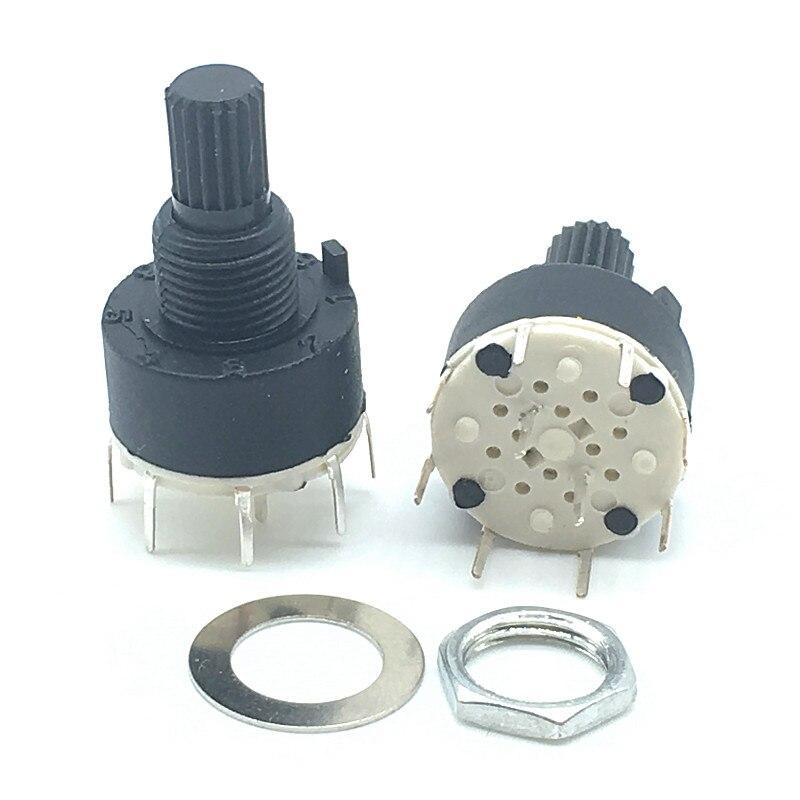 5 uds SR16 de plástico de 16MM interruptor banda giratoria 1 polo 5 6 8 posición longitud 15MM eje banda interruptor de 2 polos 3 de 4 posiciones