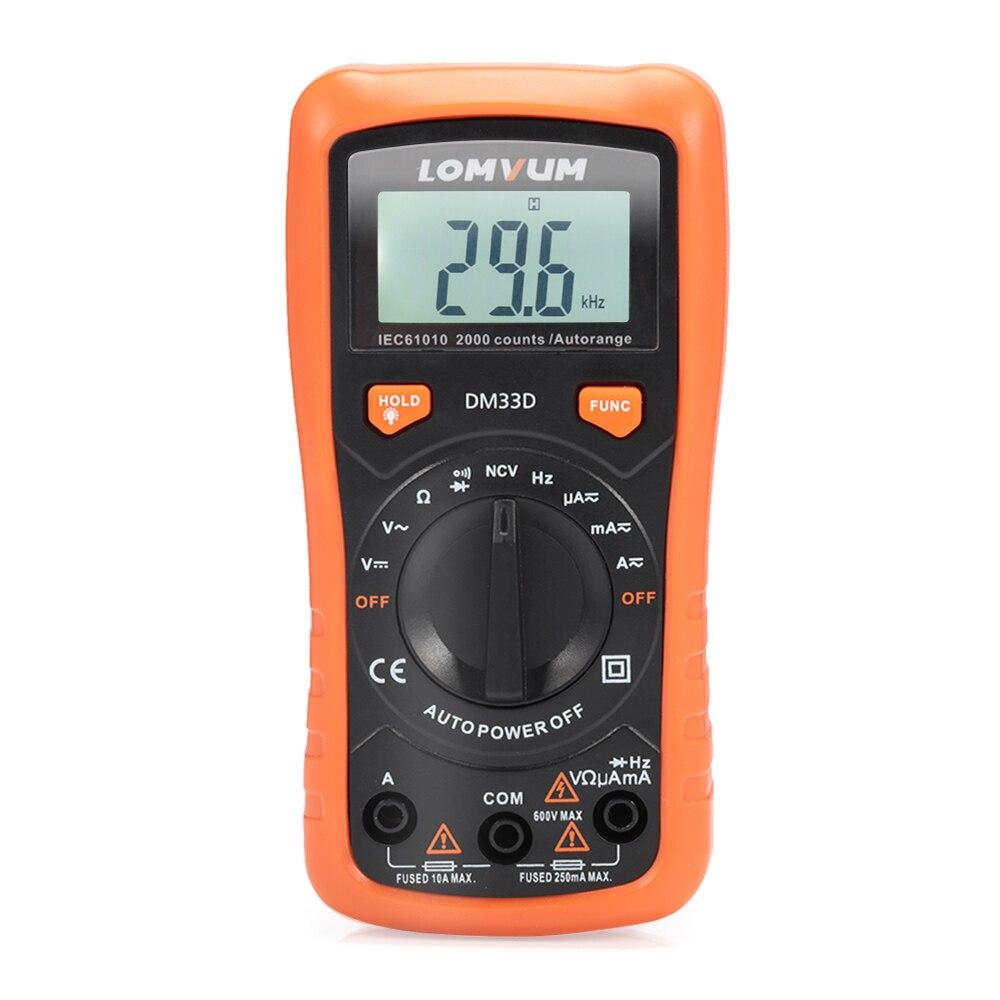 LCD Digital Multimeter Tester Automatische Multimeter NVC Messung Automatische Palette Schalter Messung Mess Werkzeug