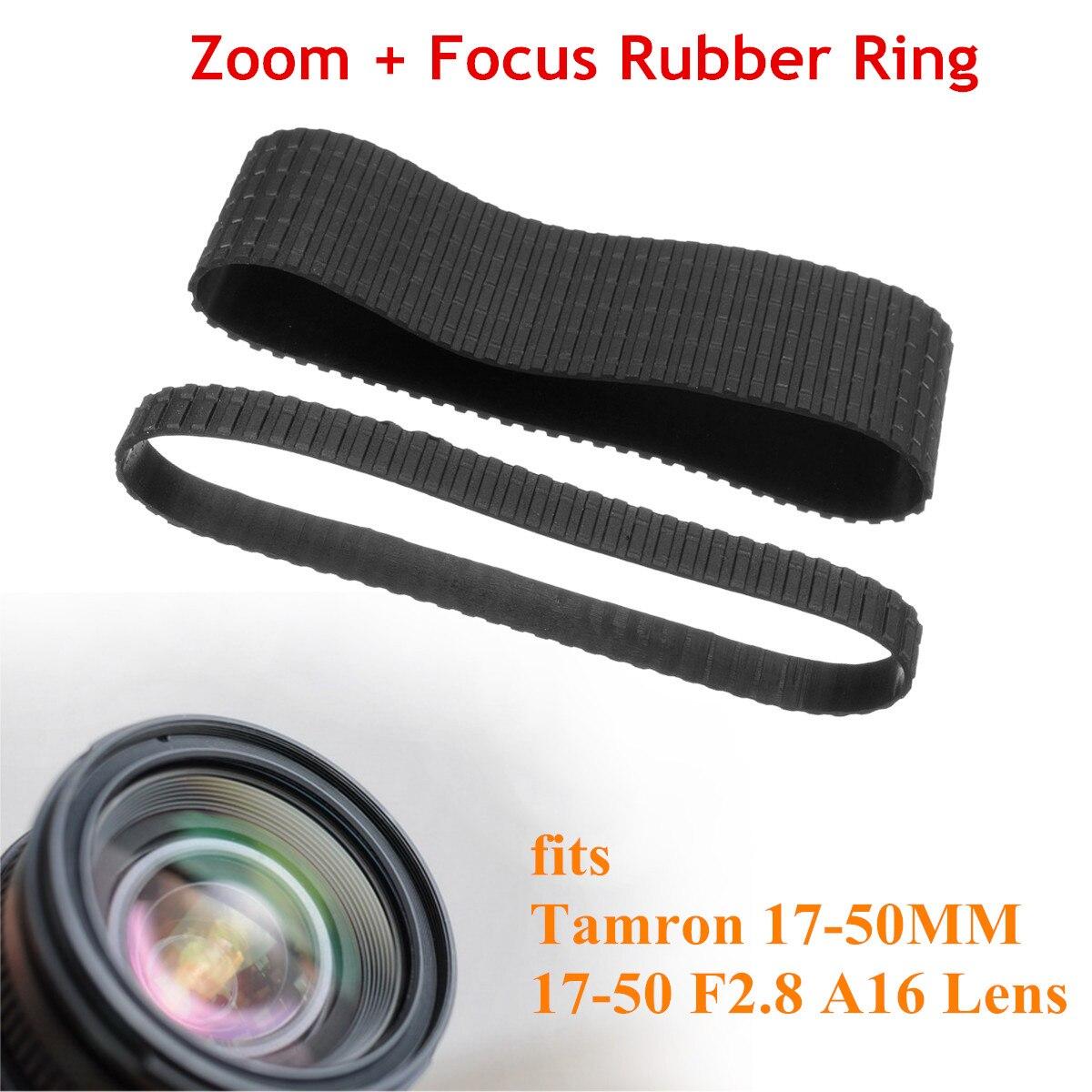 Para enfoque Zoom goma antideslizante Sustitución de anillo Set para Tamron 17-50MM 17-50 F2.8 lente A16
