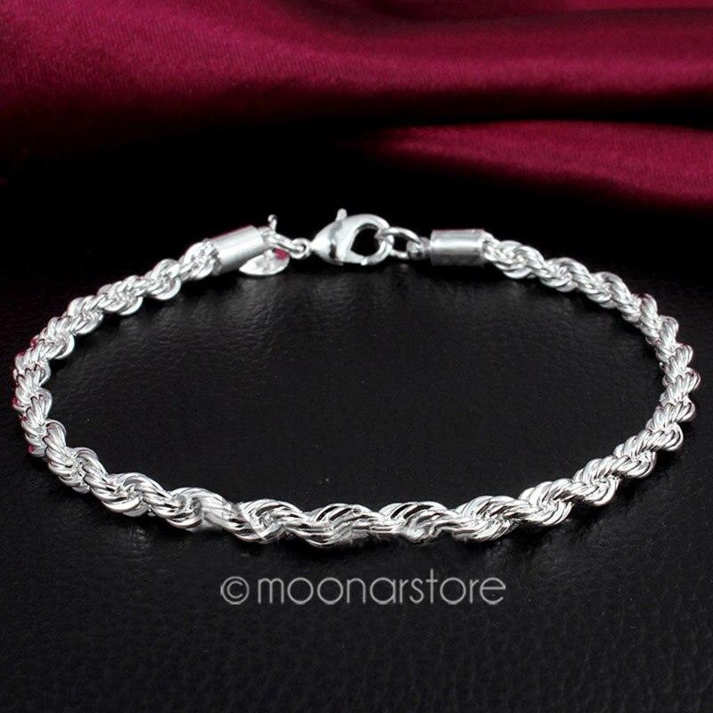 925 joyería de nueva de Corea, pulsera chapada en plata para mujer, brazalete, brazalete, cadena de mano, regalos de Navidad de San Valentín, triangulación de envío