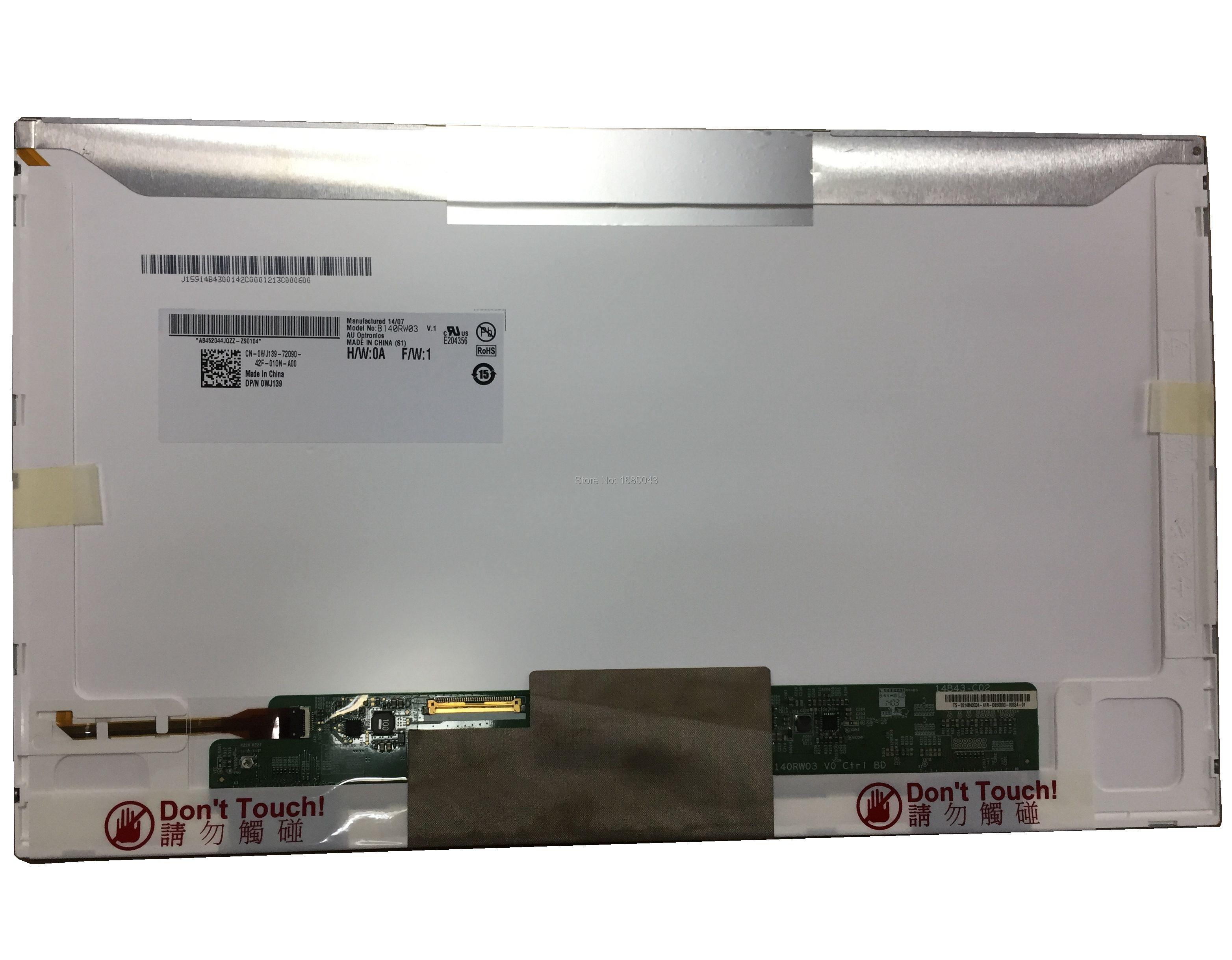 B140RW03 V.1 V.0 صالح LTN140KT04 N140O6-L02 LTN140KT01 LTN140KT07 LP140WD1 TLM1 40PIN 1600*900 جديد LED عرض شاشة الكمبيوتر المحمول