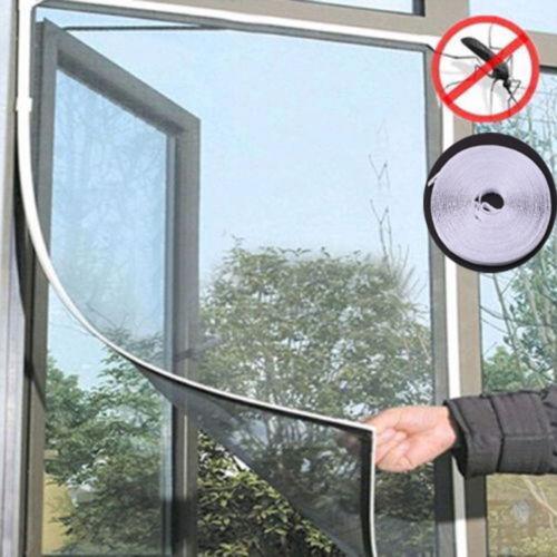 Nuevo mosquitero antiinsectos, mosquitera, mosquitera, cortina, red de malla, Protector de pantalla, mosquitero con cinta de Velcro