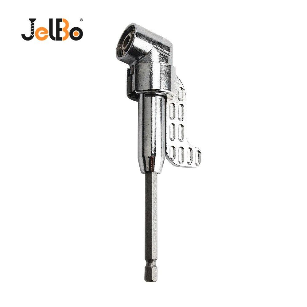 JelBo 150 grados mango Extra largo destornillador Bit giro taladro de ángulo recto ángulo para La Manga del coche adaptador de asiento herramienta de reparación manual