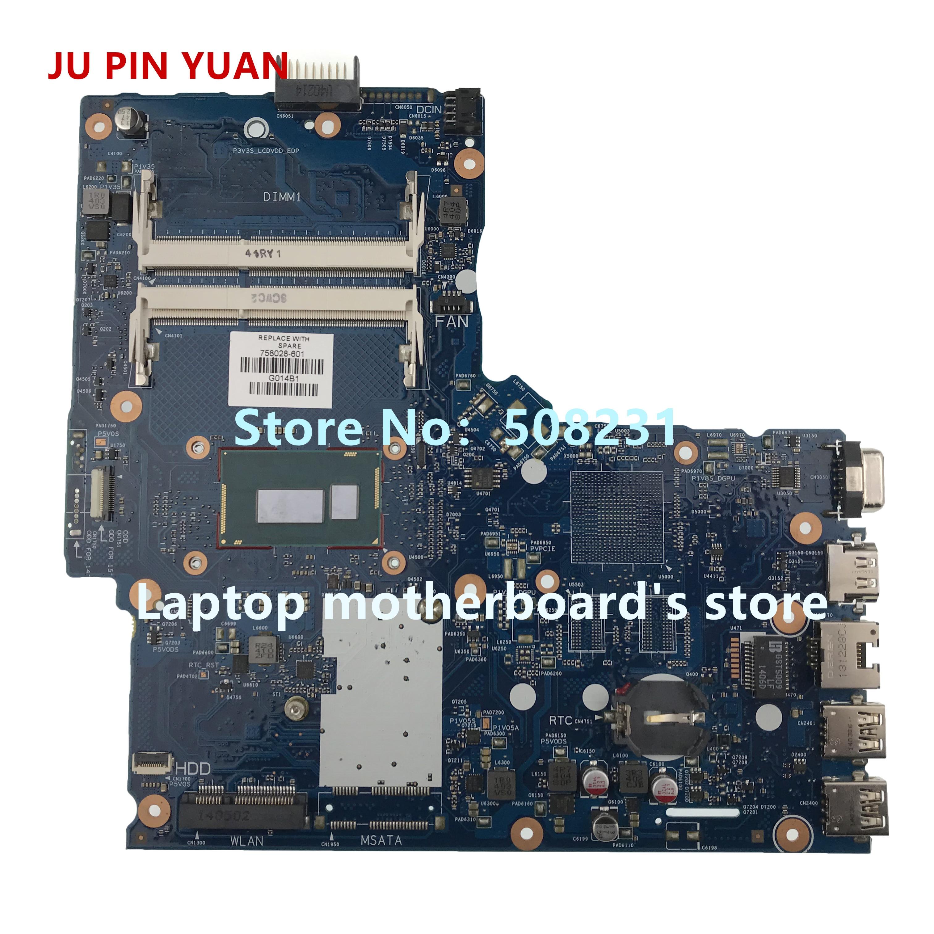 JU PIN YUAN – carte mère pour HP 758028 série G1, entièrement testée, 758028, 501 – 001, 758028-601, 350-i3-4005