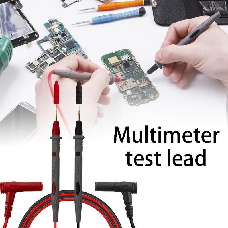 Teste universal da ponta da agulha do multímetro da ponta da agulha do pino das ligações do teste da sonda do multímetro digital cabo da pena do fio multi medidor tester lead 20a