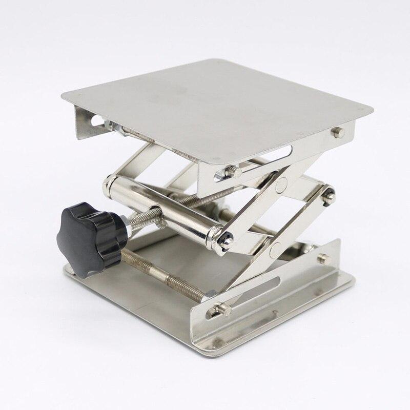 Jaque 100*100mm do laboratório do woodworking levantador do banco da tabela das plataformas de levantamento do laboratório do laboratório do laboratório do laboratório do laboratório do aço inoxidável ajustável