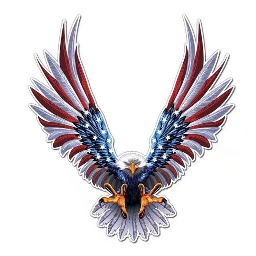 Calcomanía de coche con halcón volando, Auto camión USA Águila, pegatina de la bandera de Mascota, pegatinas de capó