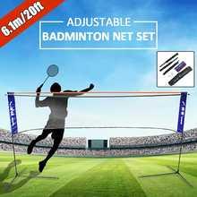 Sport Badminton Tennis Volleyball Net Tragbare Höhe Breite Adujstable Battledore Set Net Rahmen Unterstützung Stehen Lagerung Fall
