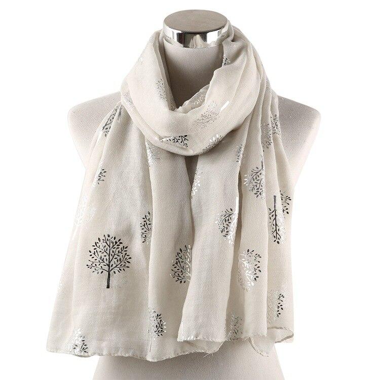 OLOME de las mujeres de la moda brilla chal bufandas de mujer de plata brillante viscosa Hijabs bufanda envolturas de algodón bufanda del hijab 2019