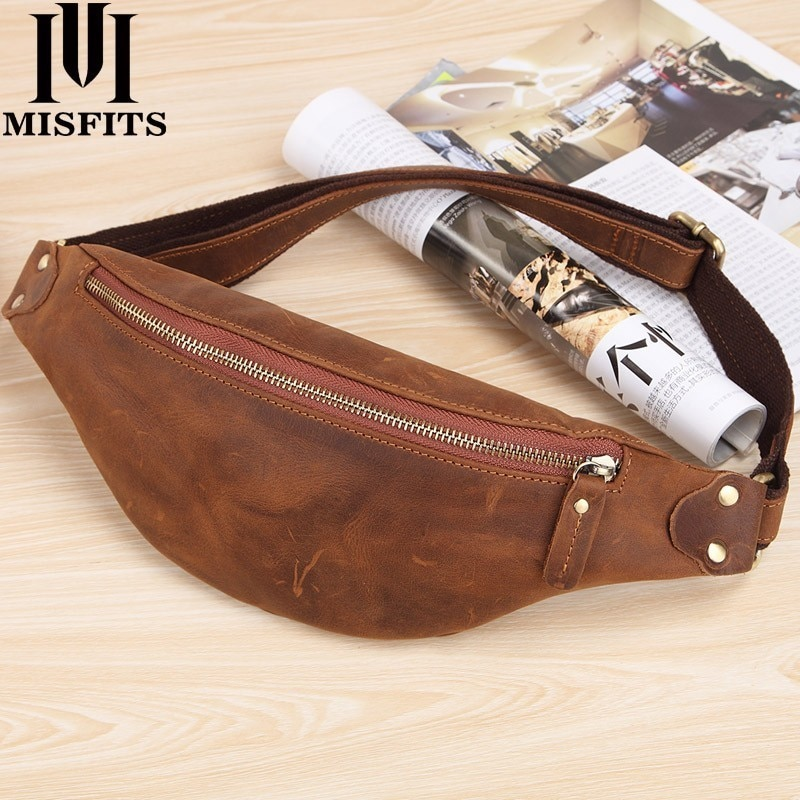 yiang new men s genuine leather cowhide vintage belt pouch purse fanny pack waist bag for cell mobile phone case cover skin MISFITS men waist bag genuine cow leather vintage small fanny pack male waist pack travel chest bag for cell phone belt bag man