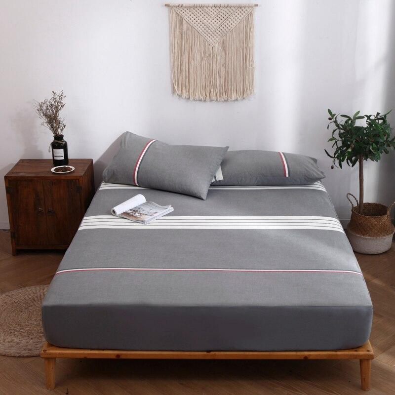 Sábana de algodón gris de alta calidad, sábanas de estilo moderno 120x200 150x200 180x200 altura 30 cm, sábanas cómodas 1 Uds