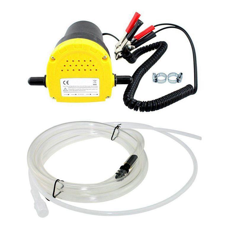 12V 60W/aceite crudo de aceite líquido de sumidero Extractor de recoger, intercambiar transferencia bomba de succión de la bomba de transferencia de + tubos para Auto, coche y barco Mot