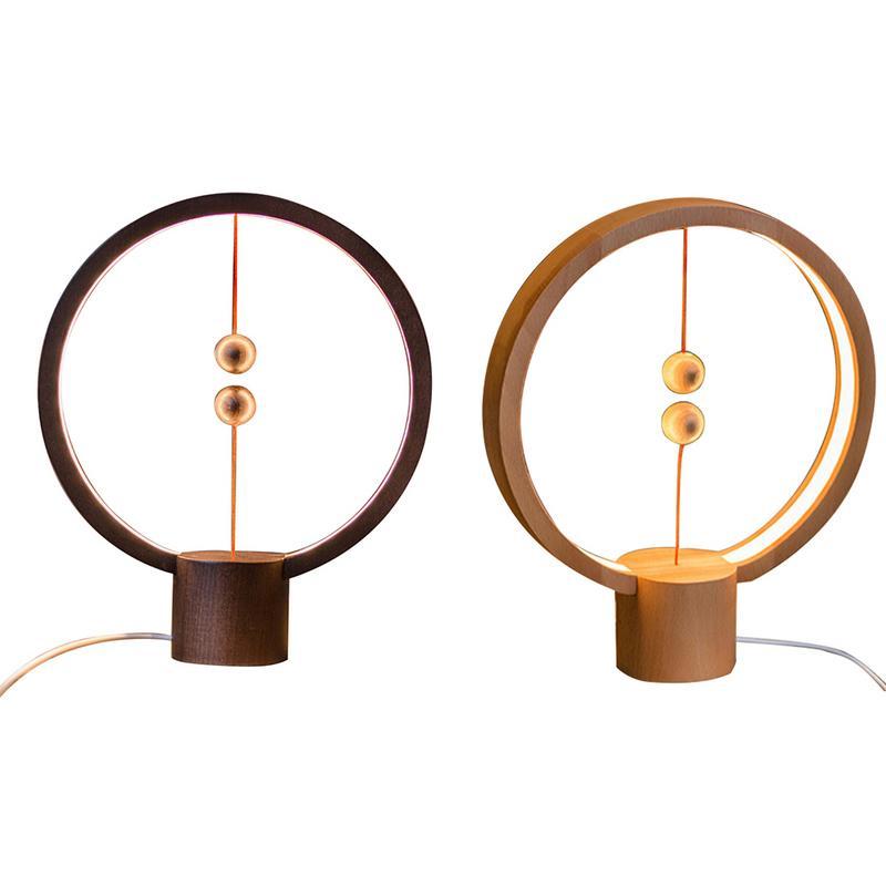 Lámpara creativa magneticamente balanceada, lámpara de mesa, regalo, lámpara de noche, lámpara de absorción magnética equilibrada inteligente