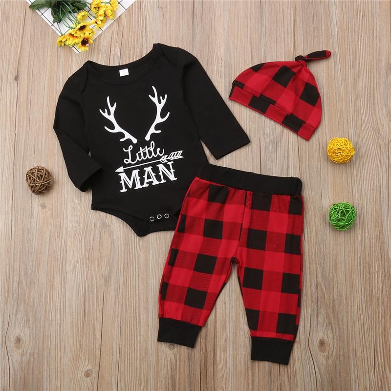 3 шт. детский комплект одежды для новорожденных мальчиков 0 18 месяцев|Комплекты