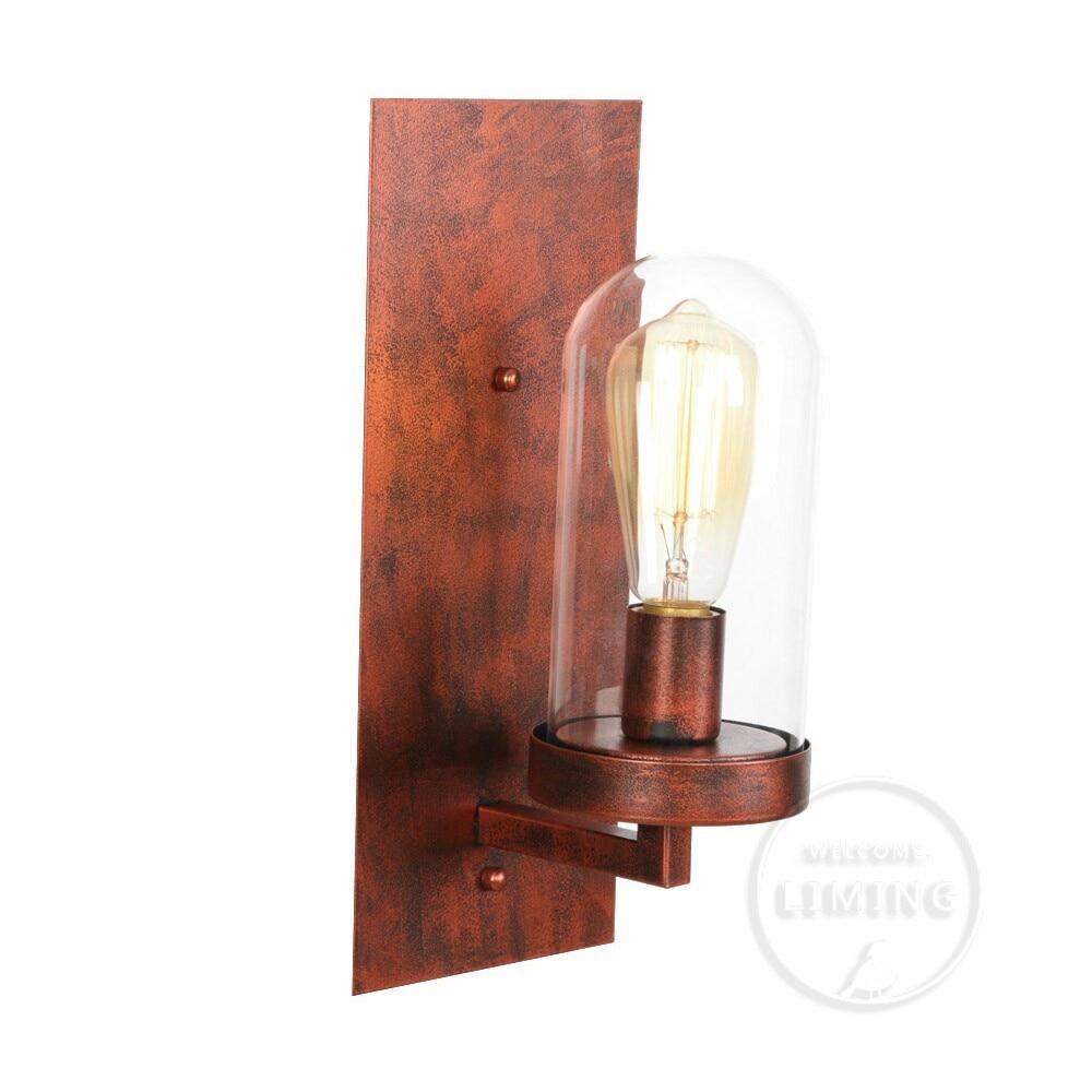Lámpara de pared LED moderna nórdica, espejo de baño de bola de cristal, lámpara de pared Retro americana, lámpara de escritorio y Aplique Murale
