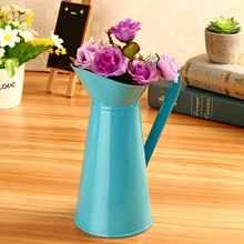 Pot de fleurs en émail Vintage Shabby Chic   Pot de pichet, Vintage Shabby Chic, Vase de fleur crème, pichet de pichet en métal, décor de maison de mariage