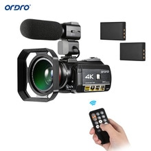 "ORDRO AC3 4K 3.1""Touchscreen WiFi Digital Video Camera Camcorder DV Recorder 24MP Extra 0.39X Wide Angle Len+Microphone+Len Hood"