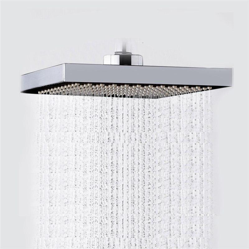 Mrosaa 6 polegadas ABS Top Spray de Chuveiro Do Banheiro Espessamento Pressurizado Rotativo Chuveiro Rainfall Cabeça Quadrada de Aço Inoxidável